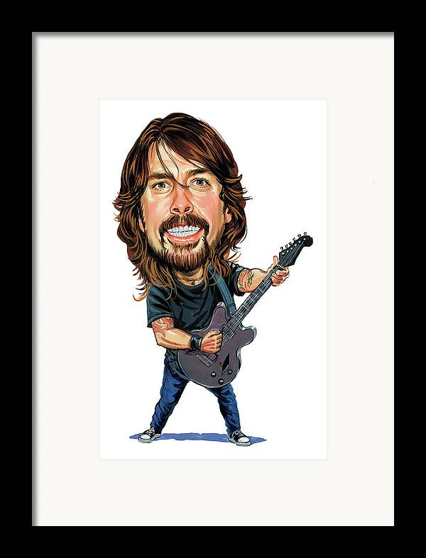 Dave Grohl Framed Print featuring the painting Dave Grohl by Art