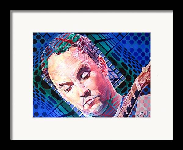 Dave Matthews Framed Print featuring the painting Dave Matthews Open Up My Head by Joshua Morton
