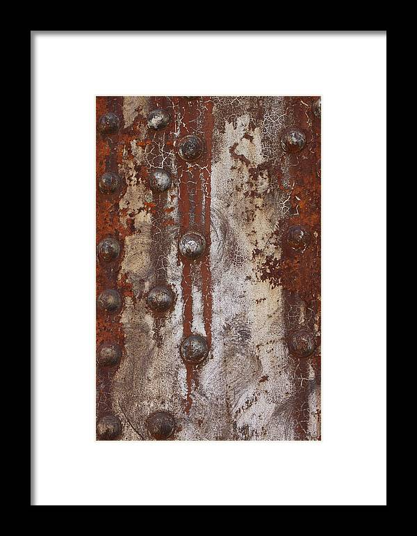 Abstract Photographs Framed Print featuring the photograph Davenport Railroad Bridge Beam II by Heidi Brandt