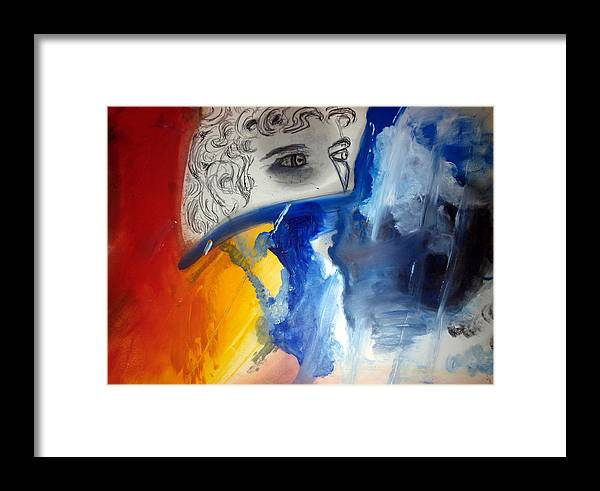 David Michelangelo Framed Print featuring the painting David Abstract Version by Daniele Fedi