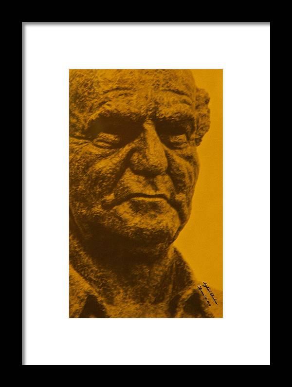 Statue Framed Print featuring the photograph David Ben Gurion - Israel First P.m. by Itzhak Richter