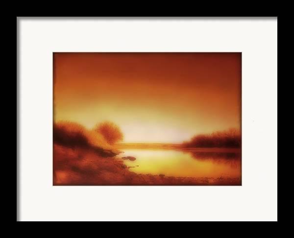 Landscape Framed Print featuring the photograph Dawn Arkansas River by Ann Powell
