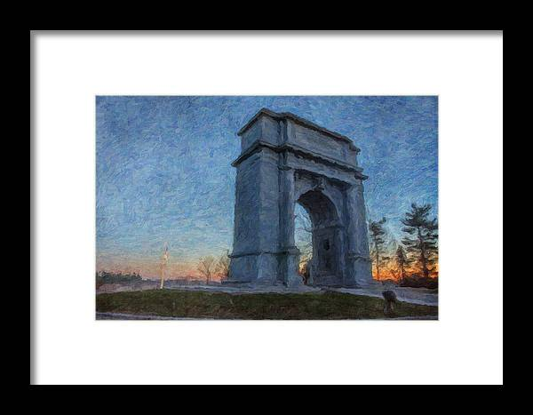 Fall Framed Print featuring the photograph Dawn At The Arch by Jeff Oates Photography