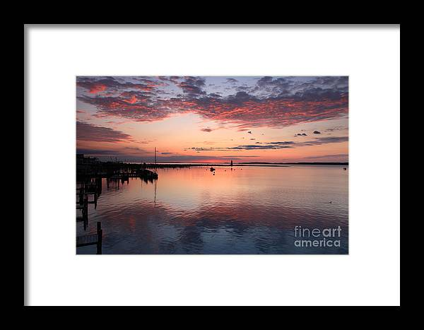 Dawn Framed Print featuring the photograph Dawn Edgartown Light by Butch Lombardi
