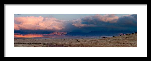 3scape Framed Print featuring the photograph Dawn In Ngorongoro Crater by Adam Romanowicz