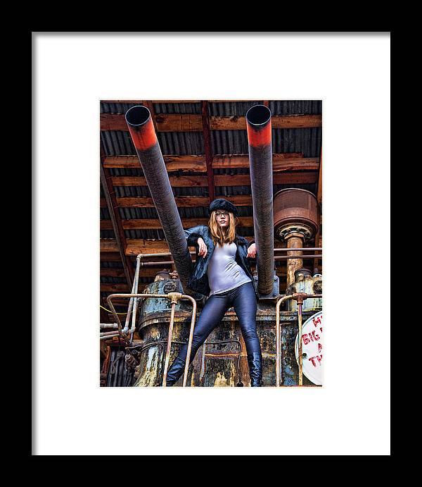 Model Framed Print featuring the photograph Dawn Jerome 3 by Joel Gilgoff