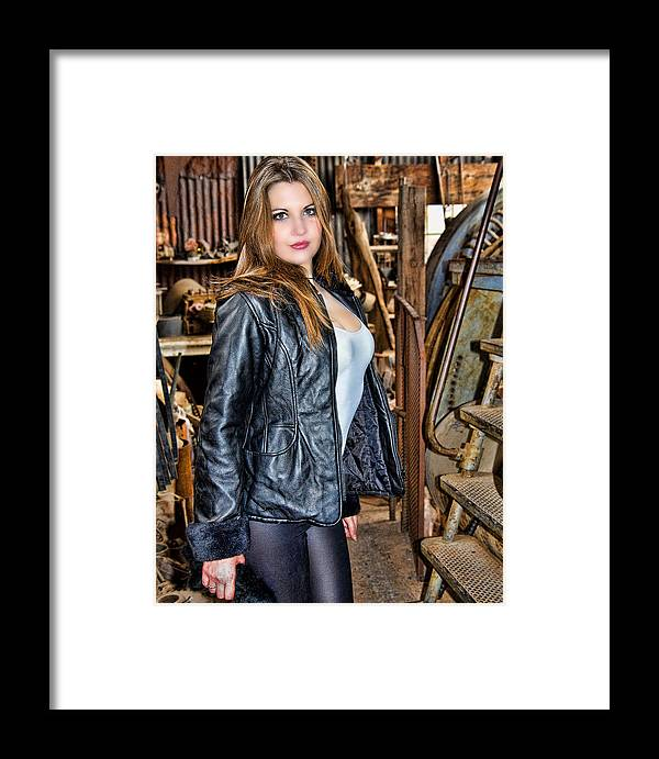 Model Framed Print featuring the photograph Dawn Jerome 4 by Joel Gilgoff