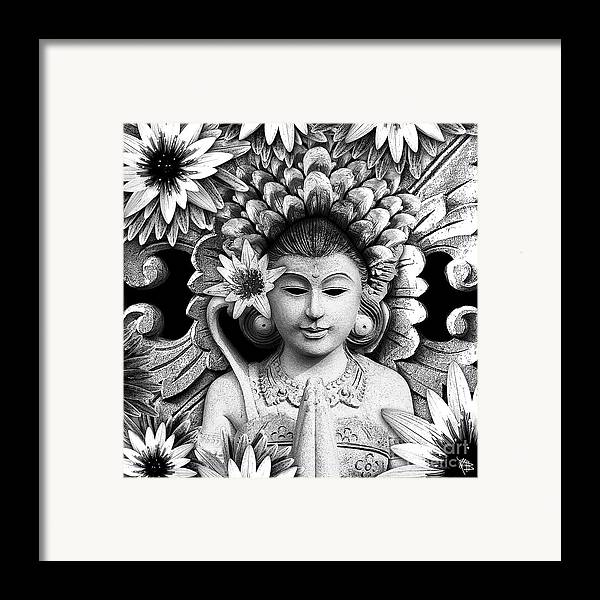 Dawning Of The Goddess Framed Print featuring the mixed media Dawning Of The Goddess by Christopher Beikmann