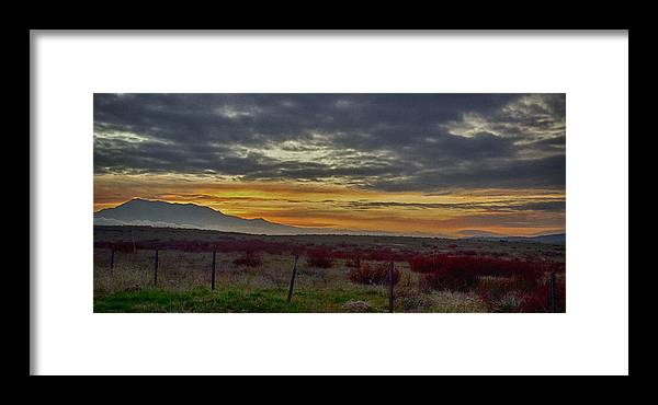 Mountains Framed Print featuring the photograph Dawns Early Light 1 by Joseph Hollingsworth