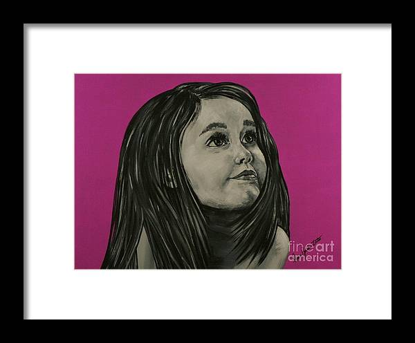 Portrait Framed Print featuring the painting Day Dreamer by Doreen Karales Zonts