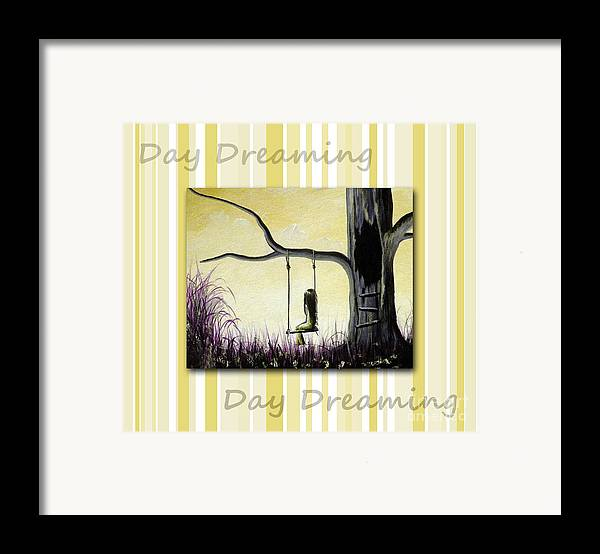 Nursery Decor Framed Print featuring the painting Day Dreaming In Yellow By Shawna Erback by Shawna Erback