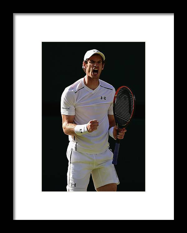Andy Murray - Tennis Player Framed Print featuring the photograph Day Eleven The Championships - by Shaun Botterill