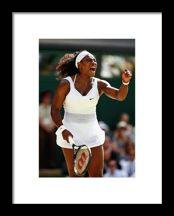 Serena Williams - Tennis Player Framed Print featuring the photograph Day Twelve The Championships - by Julian Finney