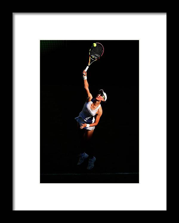 Zheng Saisai Framed Print featuring the photograph Day Two The Championships - Wimbledon by Shaun Botterill