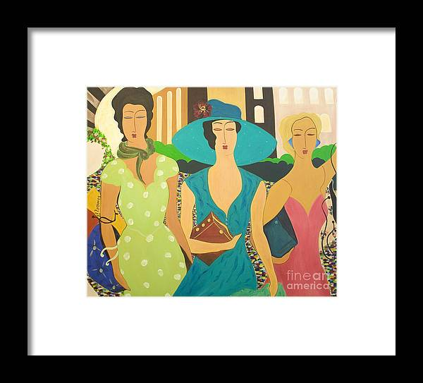 #fashion Framed Print featuring the painting Daybreak by Jacquelinemari