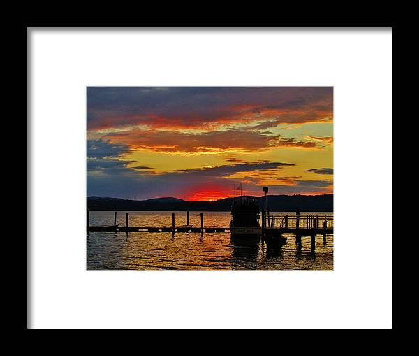 Landscapes Framed Print featuring the photograph Daybreak On The Docks by Thomas McGuire