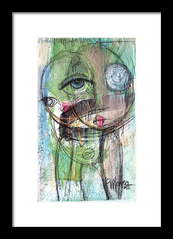 Face Framed Print featuring the painting Daylight Comes For Us All by Laurie Maves ART