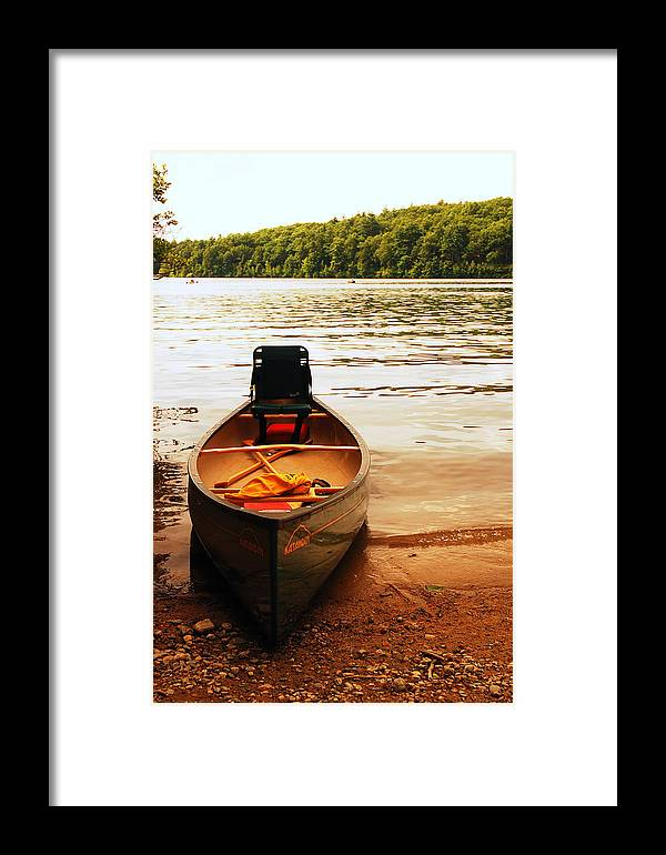 Walden Framed Print featuring the photograph Days End At Walden Pond by James Kirkikis