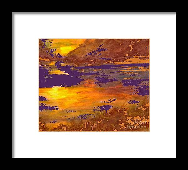 Watercolor Painting Framed Print featuring the painting Days End by Cindy McClung