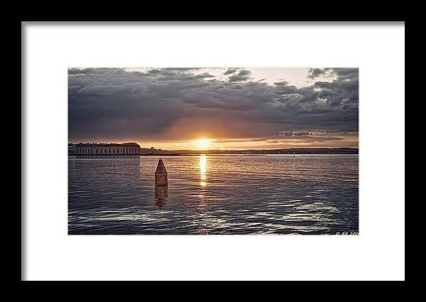 Architecture Framed Print featuring the photograph Days Magical Ending on the Bay by Richard Bean