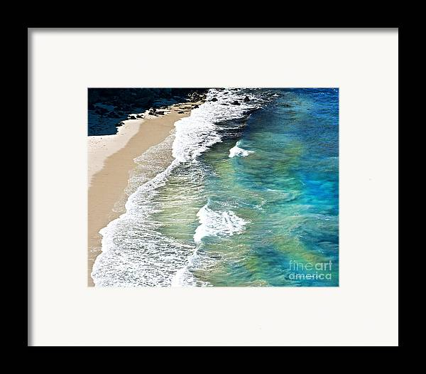 Ocean Waves Framed Print featuring the photograph Days That Last Forever Waves That Go On In Time by Artist and Photographer Laura Wrede
