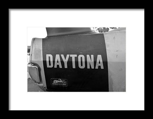1970 Daytona Charger Framed Print featuring the photograph Daytona Dominator by David Lee Thompson