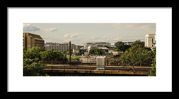 Landscapes Framed Print featuring the photograph D.C. Architecture by Ryan Routt