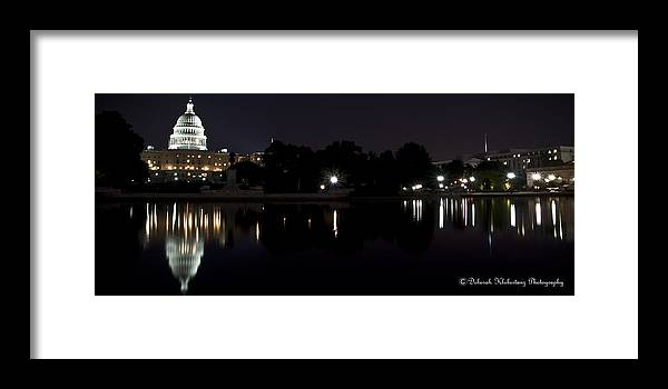 Capitol Framed Print featuring the photograph D.c. Nights by Deborah Klubertanz