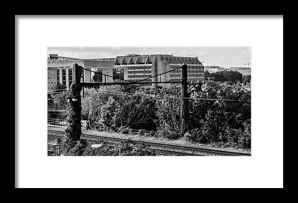 City Framed Print featuring the photograph D.C. Train Track by Ryan Routt