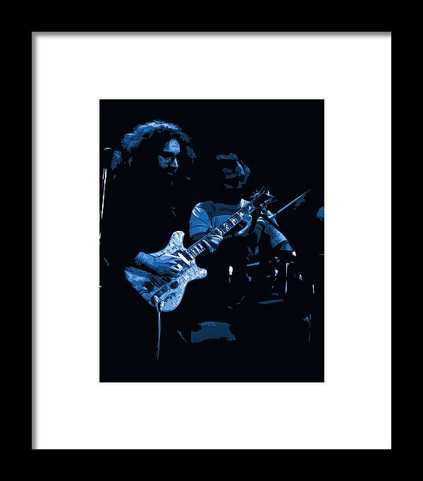 Grateful Dead Framed Print featuring the photograph Dead #19 Art In Blue by Ben Upham