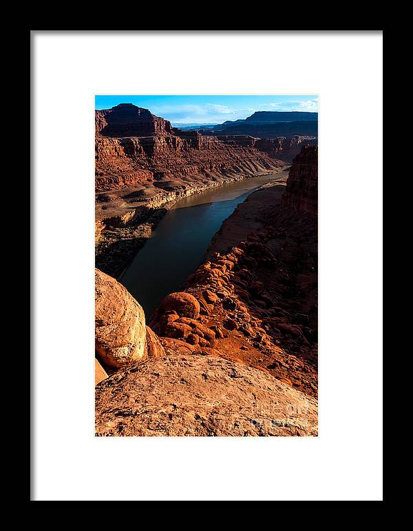 Colorado River Framed Print featuring the photograph Dead Horse Point Colorado River Bend by Gary Whitton