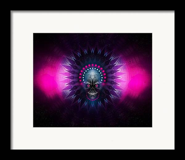 Abstract Framed Print featuring the digital art Deadstep by George Smith