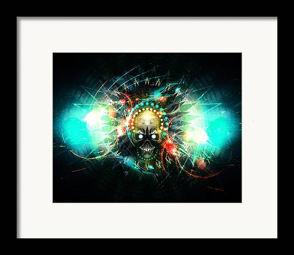 Skull Framed Print featuring the digital art Deadstep -vip by George Smith