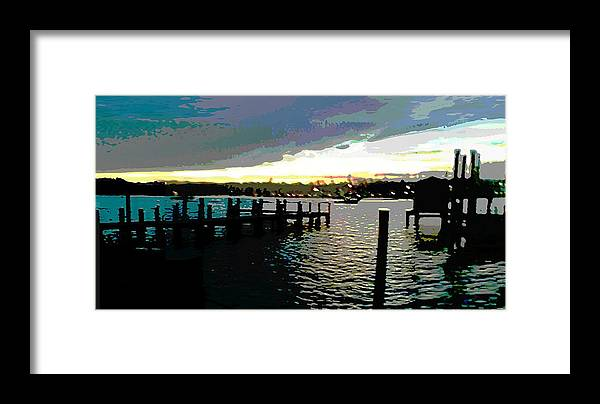 Chesapeake Framed Print featuring the painting Deale Maryland Harbour Seascape by G Linsenmayer