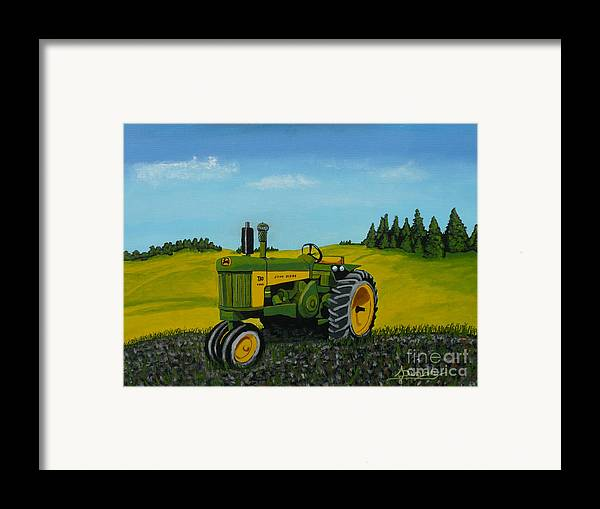 John Deere Framed Print featuring the painting Dear John by Anthony Dunphy