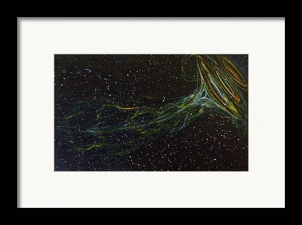 Abstract Framed Print featuring the painting Death Throes by Sean Connolly