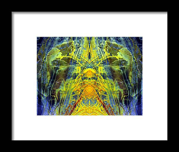 Surrealism Framed Print featuring the digital art Decalcomaniac Intersection 1 by Otto Rapp