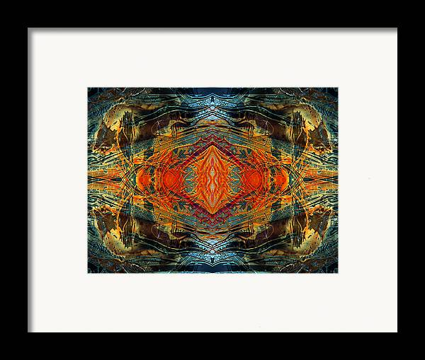 Surrealism Framed Print featuring the digital art Decalcomaniac Intersection 2 by Otto Rapp