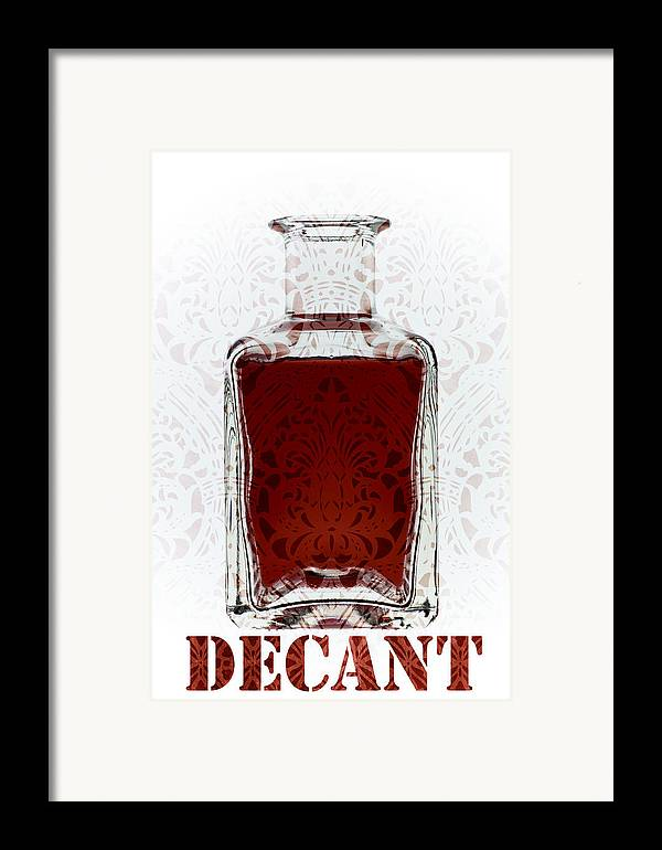 Decant Framed Print featuring the mixed media Decant by Frank Tschakert