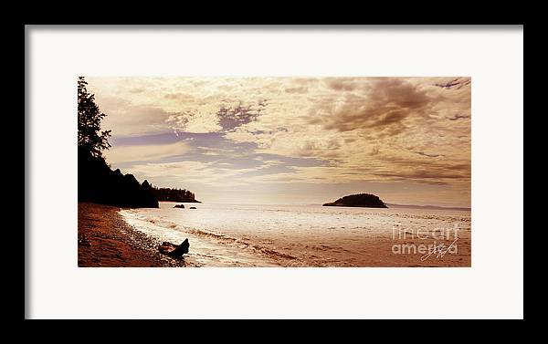 Deception Bay Washignton Framed Print featuring the photograph Deception Bay Washington by Artist and Photographer Laura Wrede