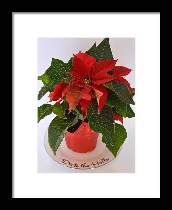 Poinsettia Framed Print featuring the photograph Deck The Halls by Rita Mueller