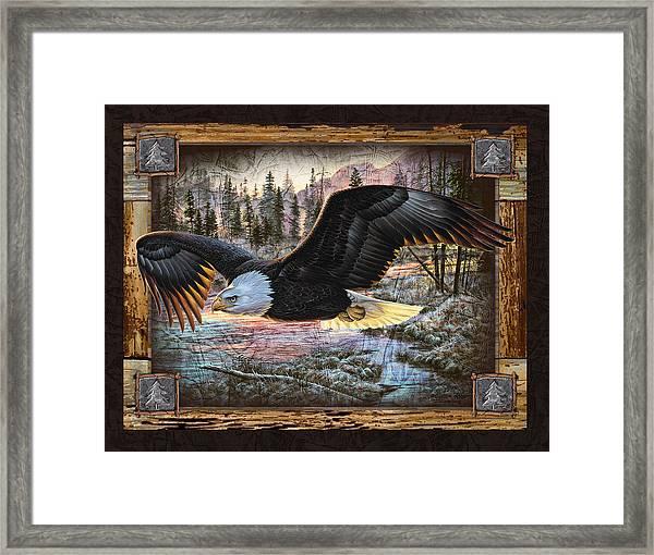 Deco Eagle Framed Print By Jq Licensing