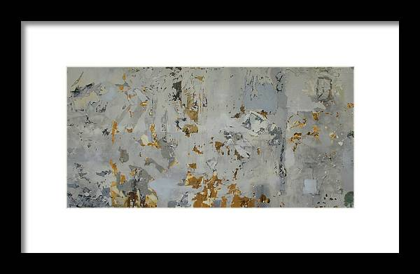 Painting Framed Print featuring the mixed media Deconstructed 5 by Donna Mayo