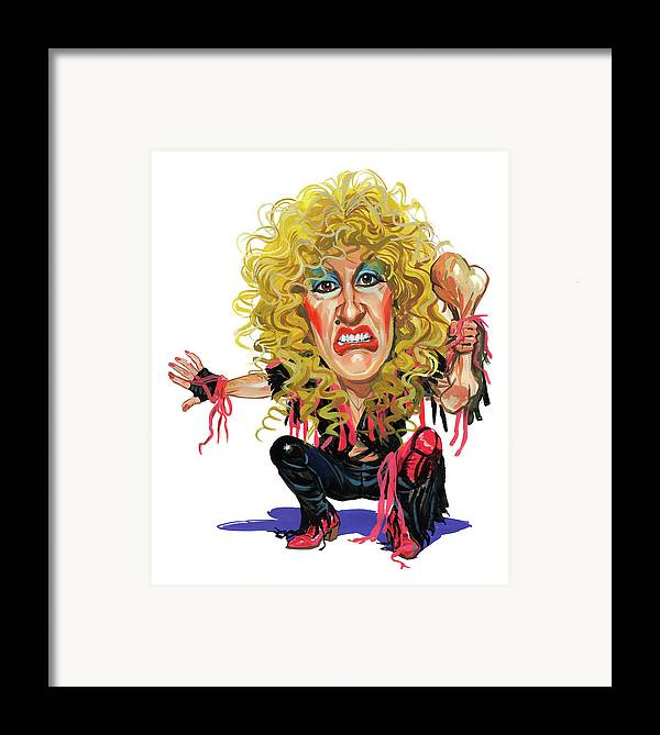 Dee Snider Framed Print featuring the painting Dee Snider by Art