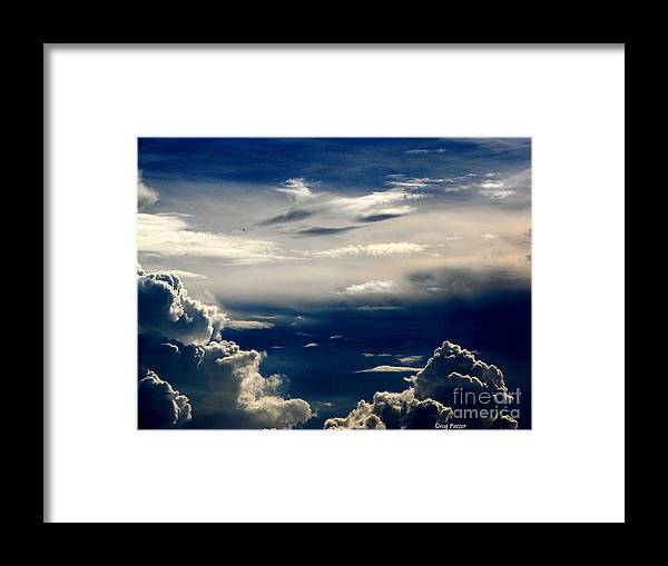Art For The Wall...patzer Photography Framed Print featuring the photograph Deep Blue by Greg Patzer