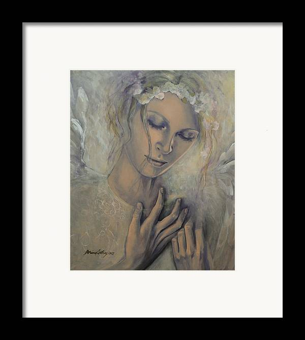 Art Framed Print featuring the painting Deep Inside by Dorina Costras