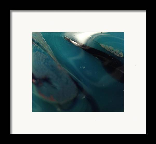 Glass Framed Print featuring the photograph Deep Sea by Gaby Tench