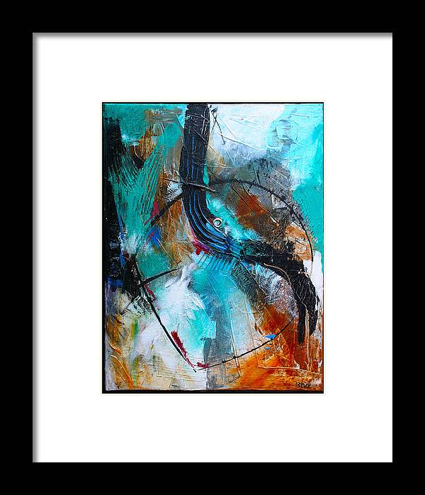 Abstract Framed Print featuring the painting Deep Silence by Cheryl Paolini