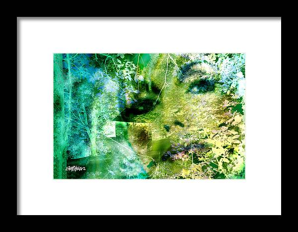 Deep Woods Wanderings Framed Print featuring the digital art Deep Woods Wanderings by Seth Weaver