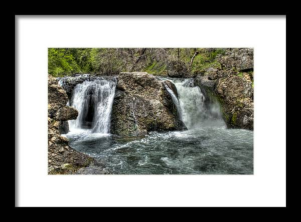Water Framed Print featuring the photograph Deer Creek Falls by Ren Alber